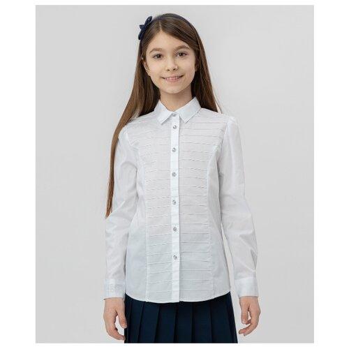 Купить Рубашка Button Blue размер 128, белый, Рубашки и блузы