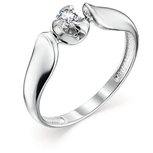 АЛЬКОР Кольцо с 1 бриллиантом из белого золота 12869-200, размер 17 алькор кольцо с 1 бриллиантом из белого золота 12869 200 размер 17 5