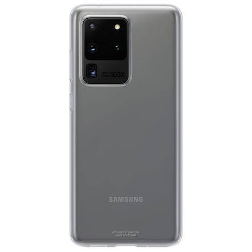 Чехол-накладка Samsung EF-QG988 для Galaxy S20 Ultra, Galaxy S20 Ultra 5G прозрачный чехол накладка samsung ef pg988 для galaxy s20 ultra galaxy s20 ultra 5g серый