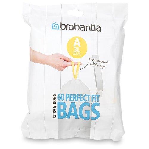 Мешки для мусора Brabantia Perfect Fit Bags A 3 л, 60 шт., белый