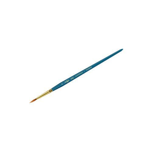 Кисть ГАММА Галерея №6, синтетика, круглая, короткая ручка голубой кисть faber castell water brush синтетика круглая короткая ручка с резервуаром белый зеленый