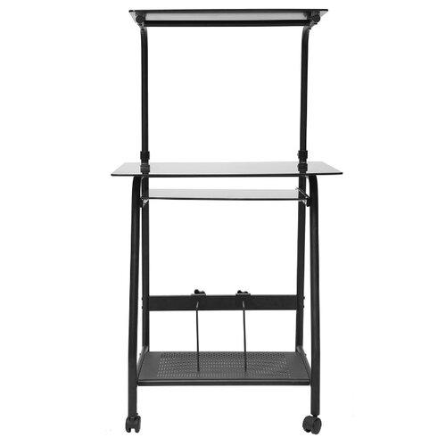 Компьютерный стол TetChair WRX-03, 65х49 см, цвет: стекло тонированное/черный каркас