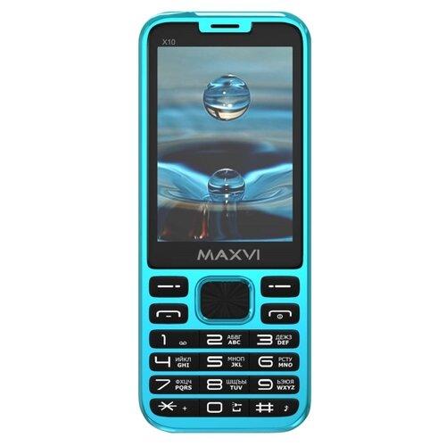 Купить Телефон MAXVI X10 голубой