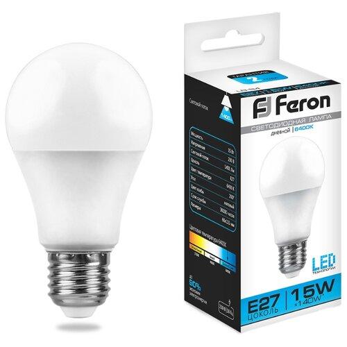 Лампа светодиодная Feron LB-94 25630, E27, A60, 15Вт лампа светодиодная feron 25629 15w 230v e27 4000k lb 94