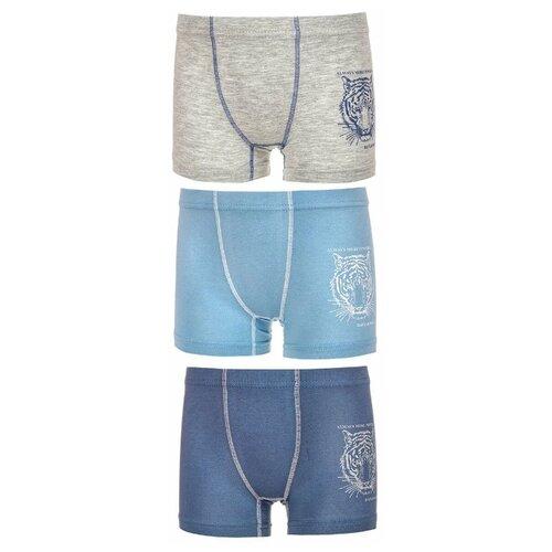 Купить Трусы BAYKAR 3 шт., размер 158/164, голубой/синий/серый, Белье и пляжная мода