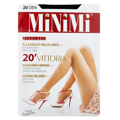 Колготки MiNiMi Vittoria 20 den, размер 3-M, nero (черный) колготки minimi lanacotone 180 den размер 3 m nero черный