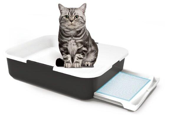 """Лоток для кошачьего туалета """"Чистый Котик"""" с выдвижным поддоном — купить по выгодной цене на Яндекс.Маркете"""