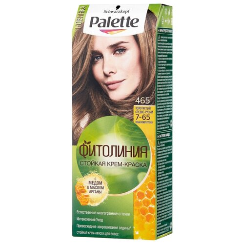 Palette Фитолиния Стойкая крем-краска для волос, 465 7-65 Золотистый средне-русый недорого