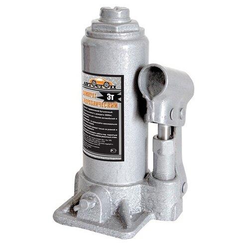 Домкрат бутылочный гидравлический Автостоп AJ-003 (3 т) серый домкрат бутылочный гидравлический автостоп aj 016 16 т серый