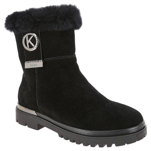 Ботинки KENKA размер 36, черный ботинки для мальчика kenka цвет черный fkh 6626 2 black размер 28