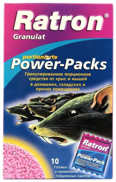 Средство Ratron Power-Packs гранулированное для борьбы с крысами и мышами 400 г