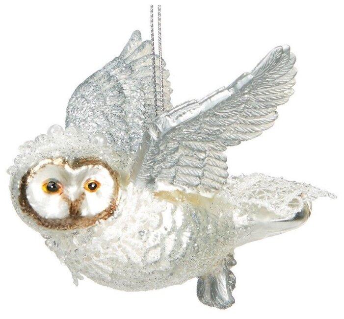 Goodwill, Ёлочная игрушка королевская сова, стекло, 9 см TR 24862