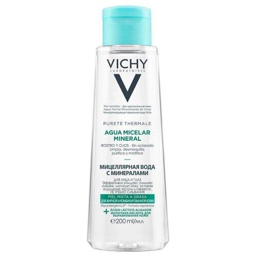 Купить Vichy мицеллярная вода с минералами для жирной и комбинированной кожи Purete Thermal, 200 мл