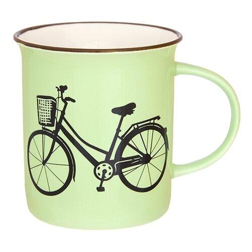 Elan gallery Кружка Велосипед 320 мл фисташковый набор кружек 2 предмета 320 мл 12х8 5х10 5 см elan gallery арабески бело бирюзовые