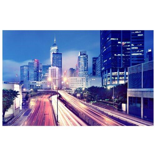 Фотообои бумажные Симфония Неоновый город К-023 2х1.4м синий фотообои postermarket балийские узоры 368 x 254 см