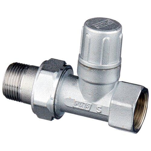Фото - Запорный клапан FAR FV 1400 муфтовый (ВР/НР), латунь, для радиаторов Ду 20 (3/4) запорный клапан far ft 1616 муфтовый нр нр латунь для радиаторов ду 15 1 2