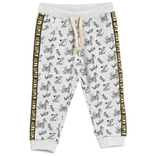 Купить Брюки COCCODRILLO Funtastic W20120102FUN размер 80, серый меланж, Брюки и шорты