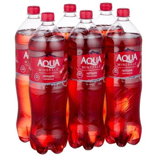 Вода питьевая Аква Минерале газированная с соком Черешня, ПЭТ, 6 шт. по 1.5 л фото