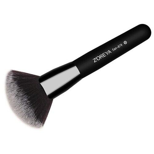 Кисть Zoreya Cosmetics Fan-879 черная tegoder cosmetics