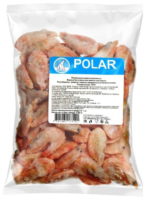 Polar Креветки северные неочищенные варено-мороженые 70/90 1000 г