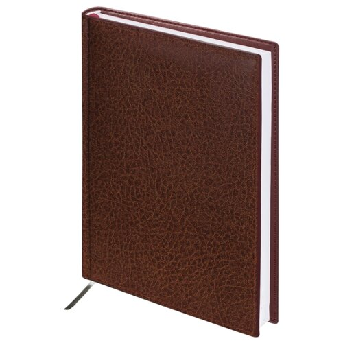 Ежедневник BRAUBERG Profile недатированный, искусственная кожа, А5, 160 листов, коричневый ежедневник brauberg imperial а5 160 листов недатированный коричневый