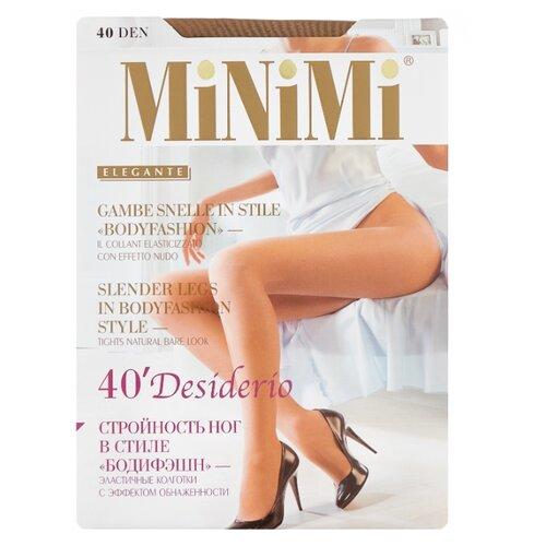 Колготки MiNiMi Desiderio (Nudo) 40 den, размер 2-S/M, daino (бежевый) колготки minimi desiderio nudo 20 den размер 4 l daino бежевый