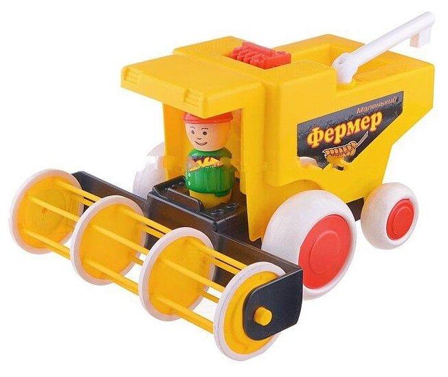 Купить Комбайн Форма Детский сад Маленький фермер (С-86-Ф) 21.5 см желтый по низкой цене с доставкой из Яндекс.Маркета