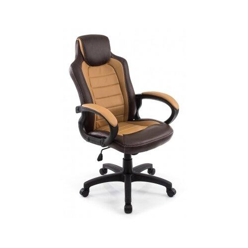 Фото - Компьютерное кресло Woodville Kadis офисное, обивка: искусственная кожа, цвет: коричневый/бежевый компьютерное кресло woodville rich офисное обивка искусственная кожа цвет коричневый
