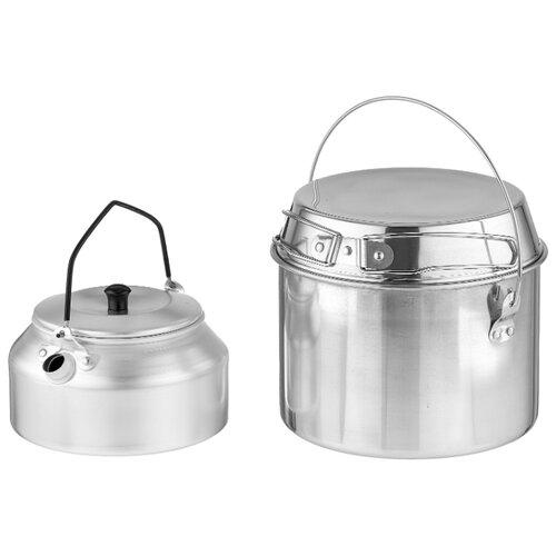 Набор туристической посуды ECOS Camp-S2, 3 шт. хром