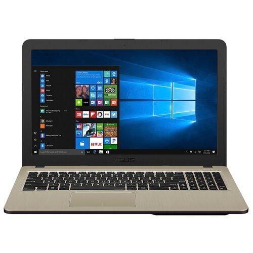 Купить Ноутбук ASUS VivoBook 15 X540BP-DM120T (AMD A6 9225 2600MHz/15.6 /1920x1080/4GB/256GB SSD/DVD нет/AMD Radeon R5 M420 2GB/Wi-Fi/Bluetooth/Windows 10 Home) 90NB0IZ1-M01700 черный/золотой