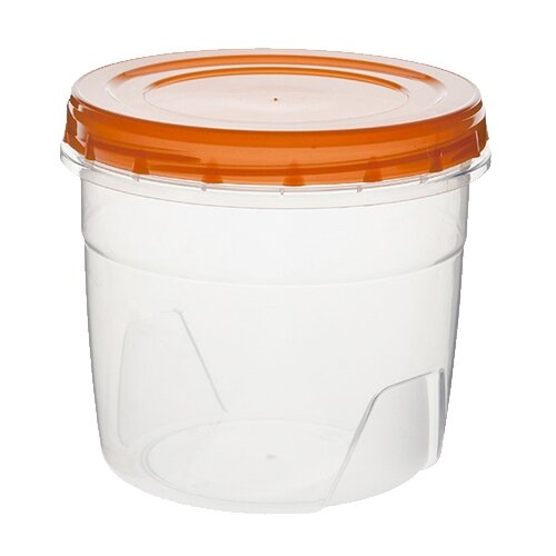 ПОЛИМЕРБЫТ Банка для хранения продуктов 443 1.3 л прозрачный/оранжевый