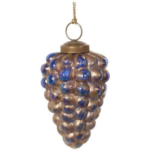 Елочная игрушка SHISHI 48169/48170, голубой/золотой