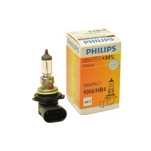 Лампа автомобильная галогенная Philips HB4 Premium Vision 12V 55W + 30% 1 шт.
