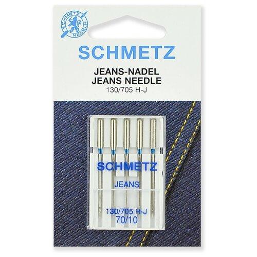 Игла/иглы Schmetz Jeans 130/705 Н-J 70/10 серебристый