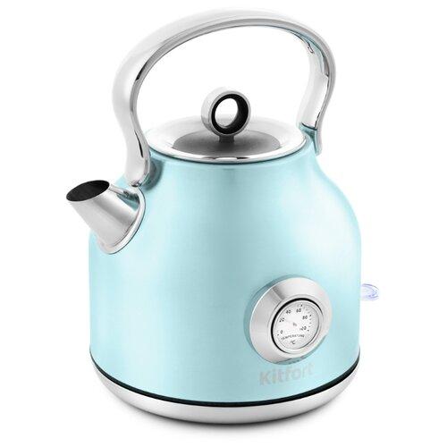 Чайник Kitfort КТ-673-3, голубой чайник kitfort кт 673 1 белый