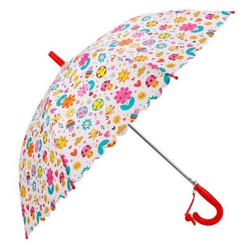 Зонт Mary Poppins белый/желтый/розовый/голубой
