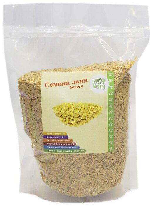 Семена льна Green and Happy белые 500 г