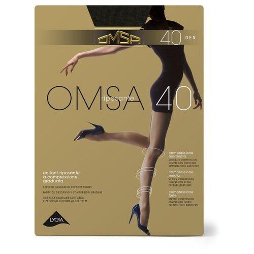 Колготки Omsa Omsa 40 den, размер 2-S, fumo (серый) колготки omsa omsa 70 den размер 2 s fumo серый