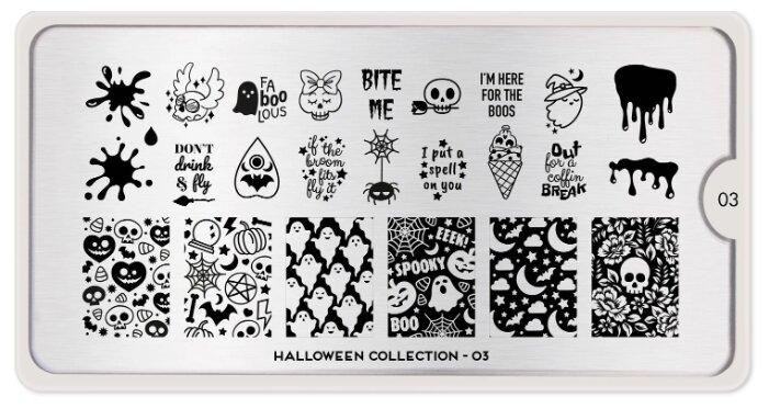 Трафарет MoYou London Halloween №03 12.5 х 6.5 см