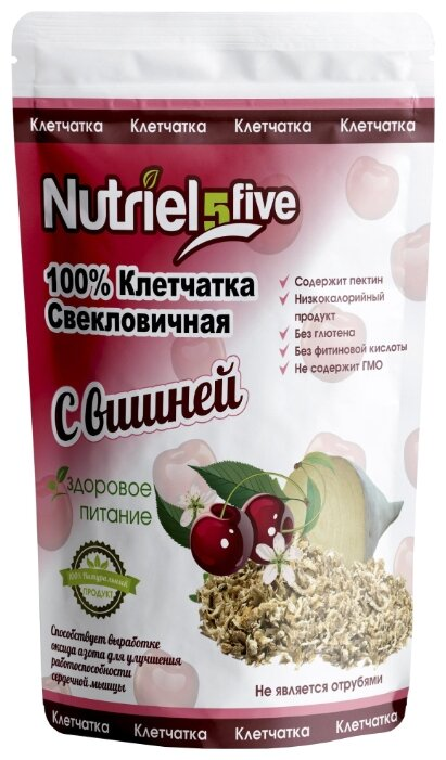 Клетчатка Nutriel five свекловичная с вишней без сахара, 150 г