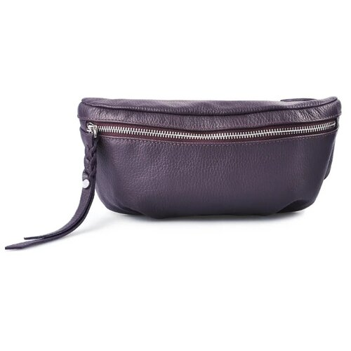 Сумка поясная Afina, натуральная кожа, фиолетовый сумка afina сумка