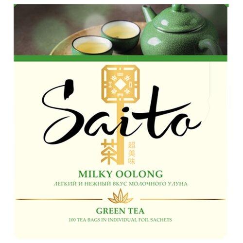 Чай улун Saito Milky oolong в пакетиках , 150 г , 100 шт.