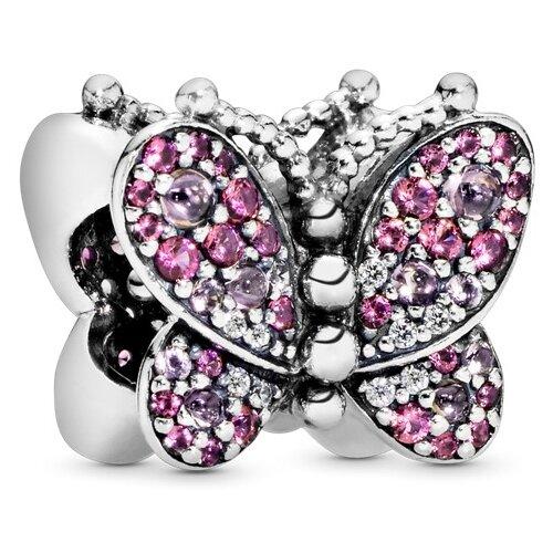 PANDORA Шарм Сияющая розовая бабочка 797882NCCMX фото