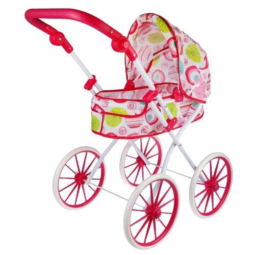 Купить Коляска-люлька Наша игрушка Герда M0301-9 розовый, Коляски для кукол