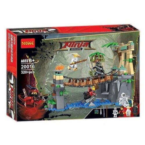 Купить Конструктор Jisi bricks (Decool) Ninja 20016 Битва Гармадона и мастера Ву, Конструкторы