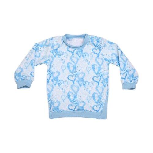 Свитшот Babyglory размер 92, голубой джемпер для новорожденных babyglory superstar цвет синий ss001 09 размер 92