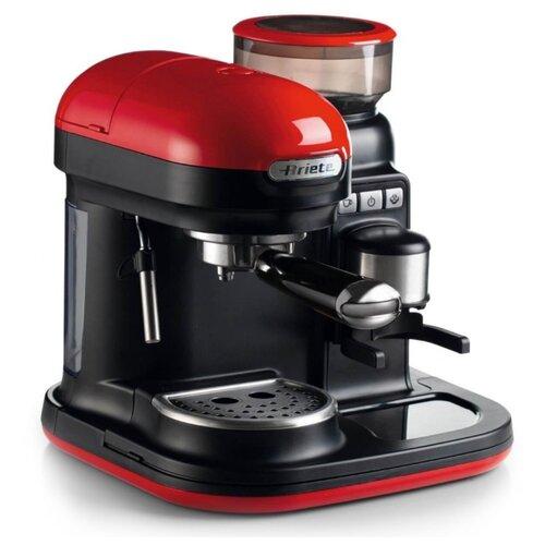 Кофеварка рожковая Ariete 1318 Moderna красный/черный кофеварка ariete 1388 retro red