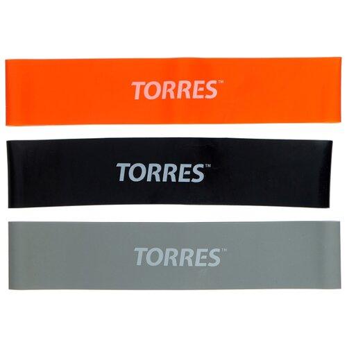 Эспандер лента 3 шт. TORRES AL0033 24 х 5 см черный/серый/оранжевый эспандер бабочка torres thigh