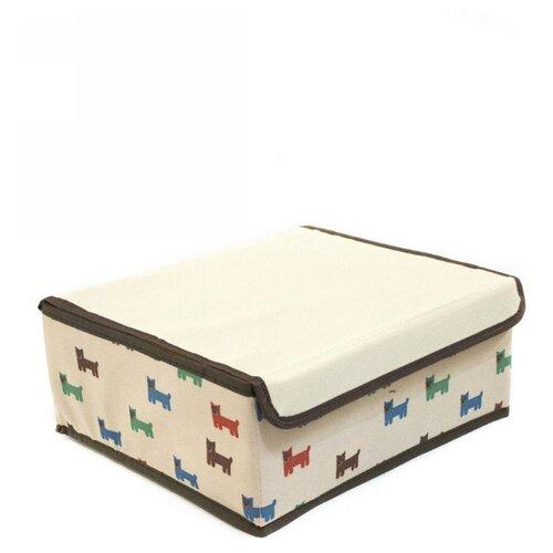 Фото - Удачная покупка Коробка для хранения RYP103 светло-бежевый коробка рыжий кот 33х20х13см 8 5л д хранения обуви пластик с крышкой