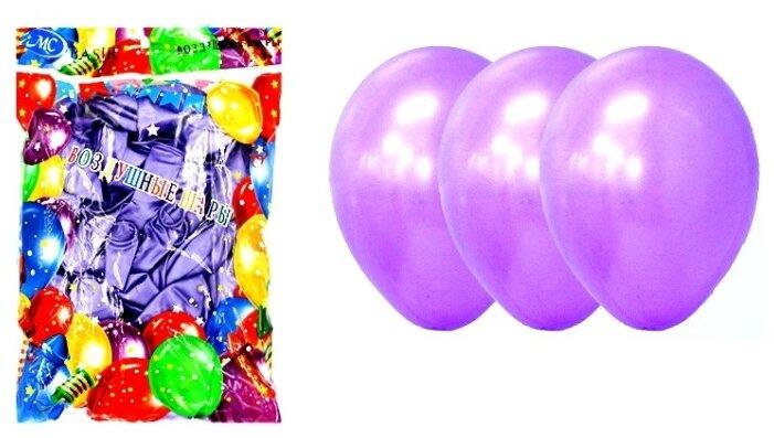 """Воздушные шарики: """"Неон"""", цвет - сиреневый, в упаковке 100 штук, размер 12"""